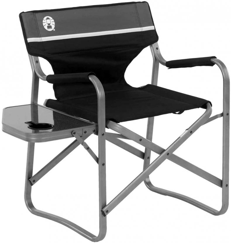 Coleman camp chair with table