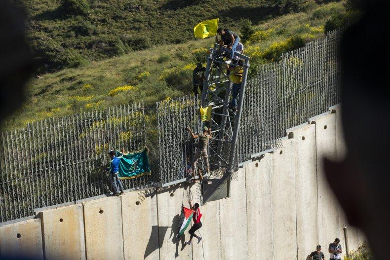 lebanon, israel, border, flags, gaza, war