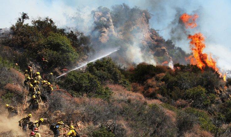 Palisades fire October 2019