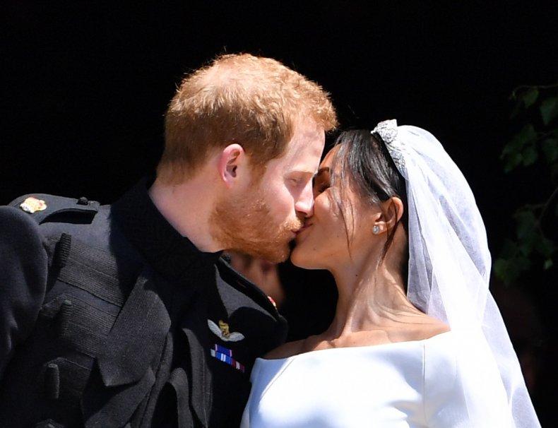 Prince Harry and Meghan Markle's Wedding Kiss