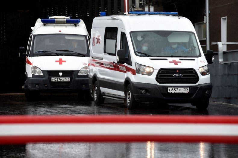 Russian ambulances shown in Moscow