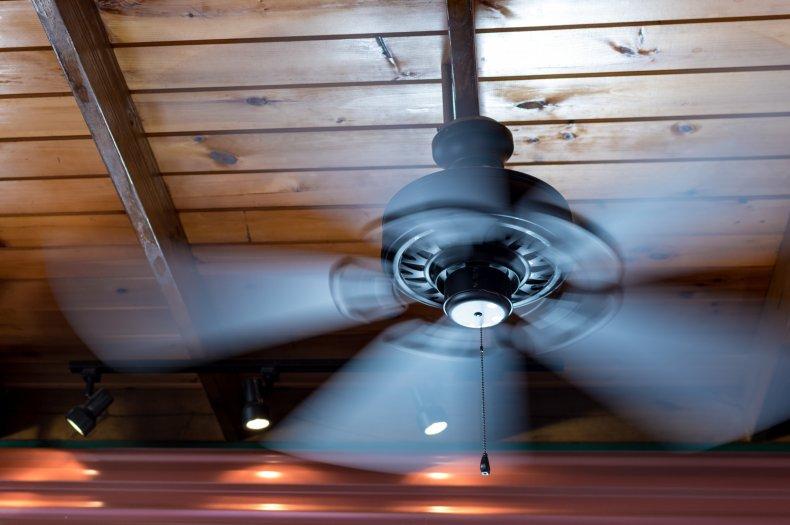 Blood was spread by the ceiling fan