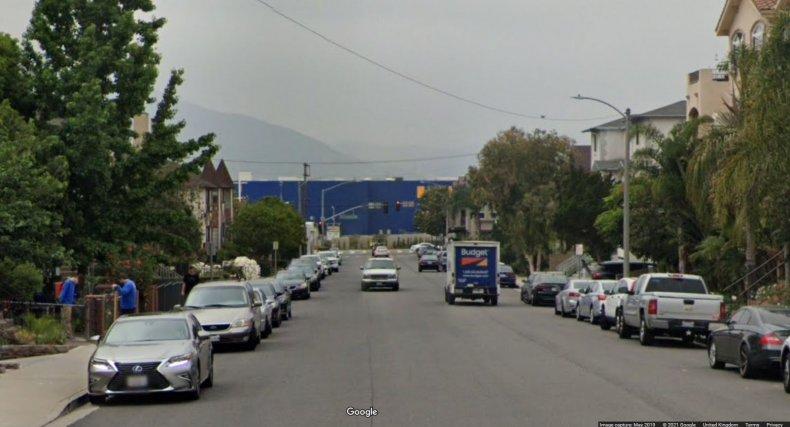 Google maps image of the Burbank Ikea