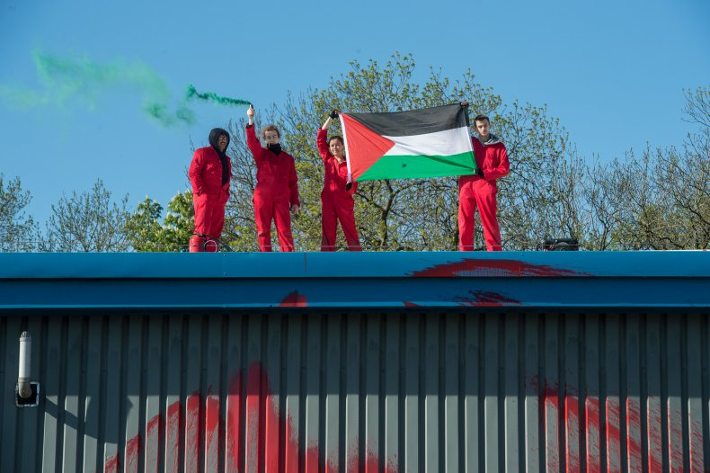 Palestine Action protest Elbit Systems