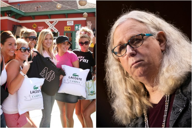 Sorority girl criticized video about Rachel Levine
