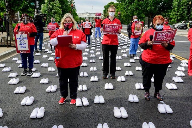 National Nurses United protest