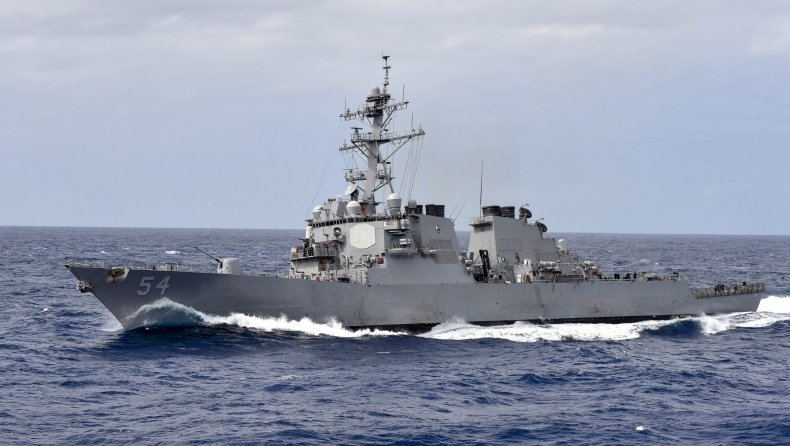 U.S. Navy Destroyer In Philippine Sea
