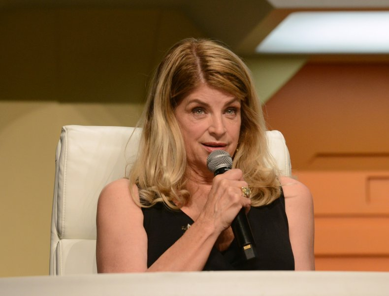 Kirstie Alley at a convention in Vegas
