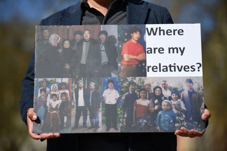 Protest of Xinjiangs human rights violation