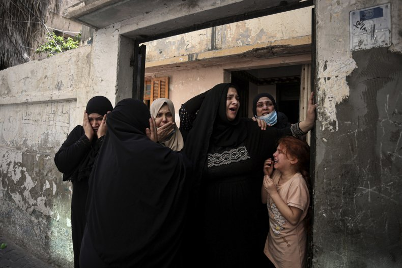 Mourners of Hamas Relative