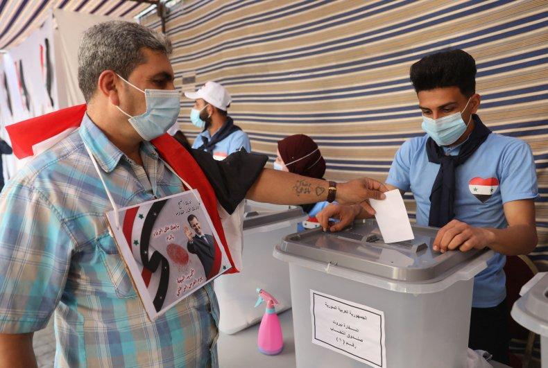 Syria Refugees Voting Assad