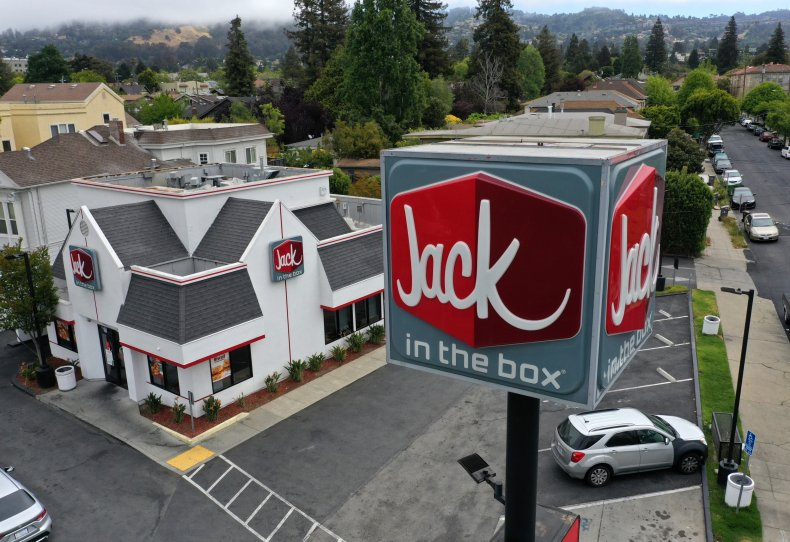 Jack in the Box man arrested knives