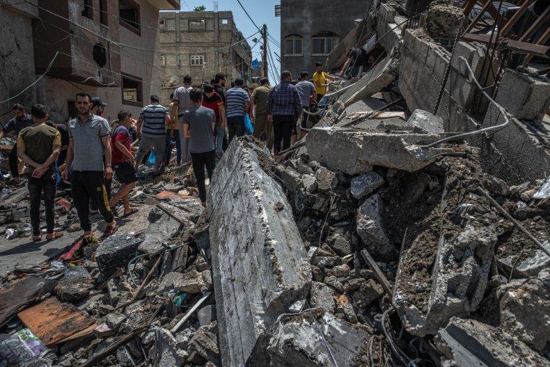 Buildings Damaged in Gaza City