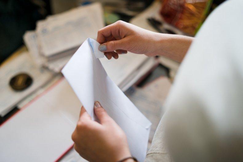 white powder envelope