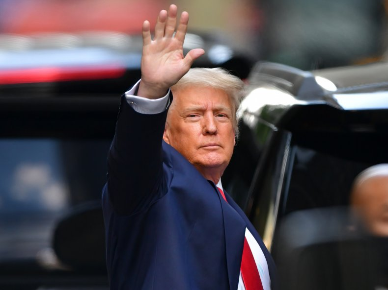 Ex-U.S. President Donald Trump byTrump Tower