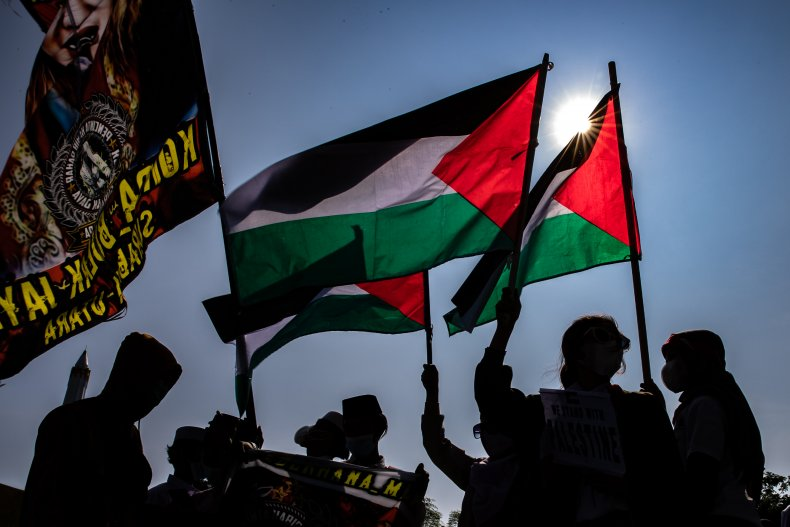 Indonesian Muslims Protest Against Israel