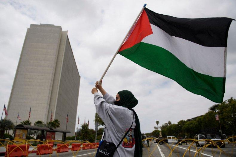 Israel Palestine flag school display