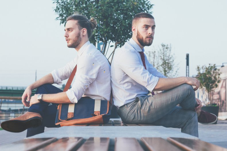 Stock image of twin brothers