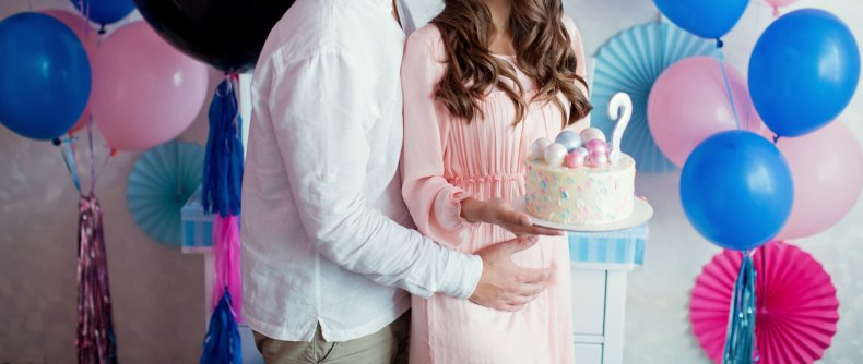 Couple gender reveal party
