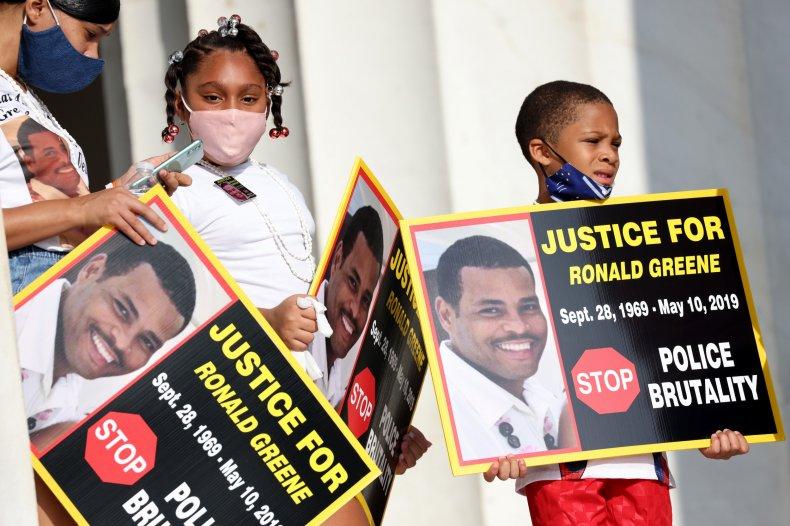 Family members of Ronald Greene in DC