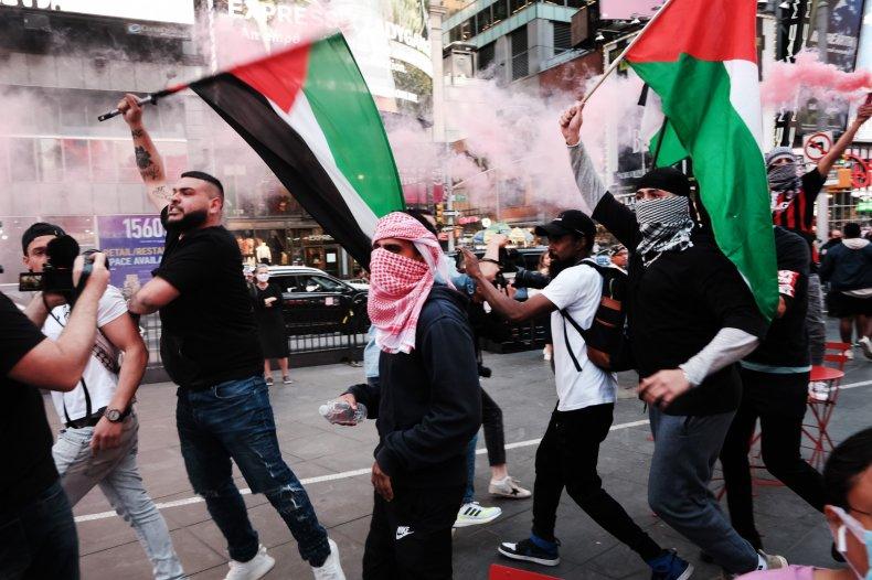 Israel-Palestine protests NYC