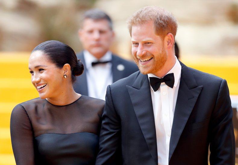 Meghan Markle, Prince Harry at Lion King