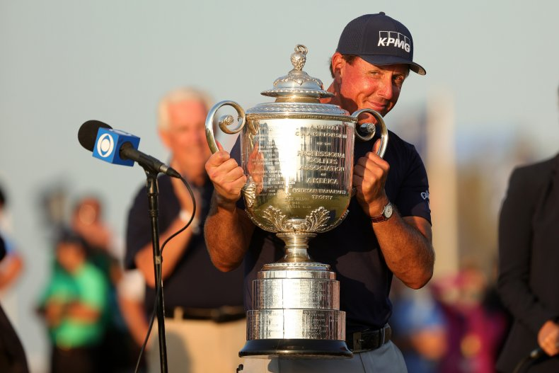 Phil Mickelson at the PGA Championship
