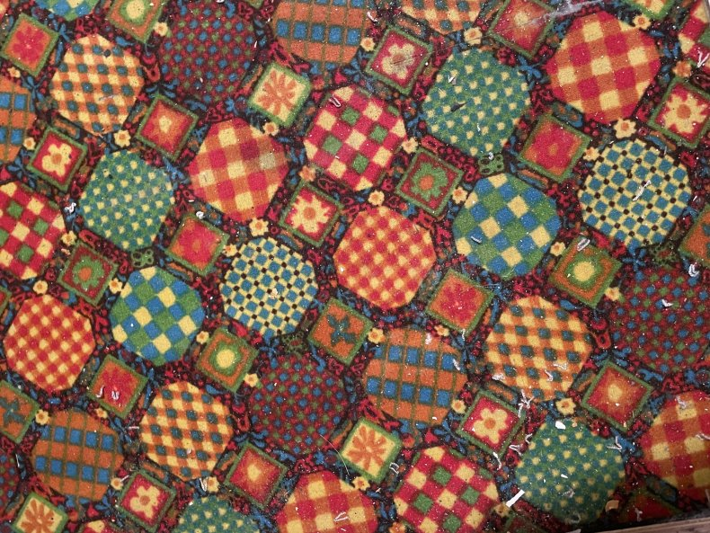 Colorful 70s floor Grace Benavente found