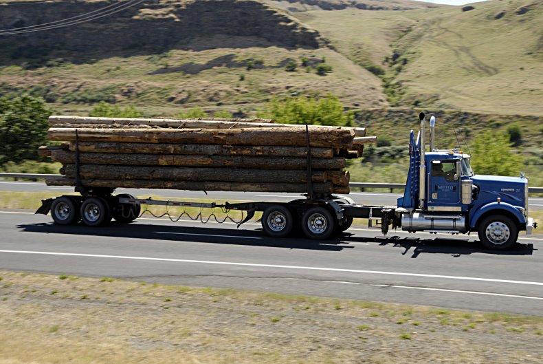 Truck load logs