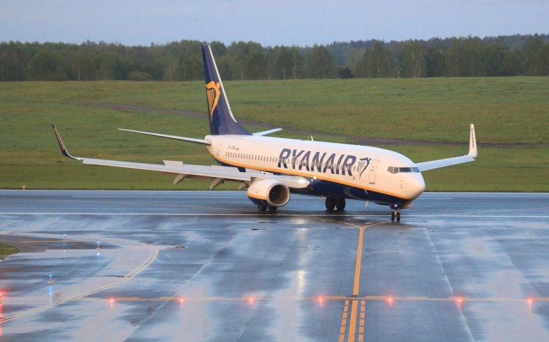 Ryanair plane diverted to Belarus lands inLithuania