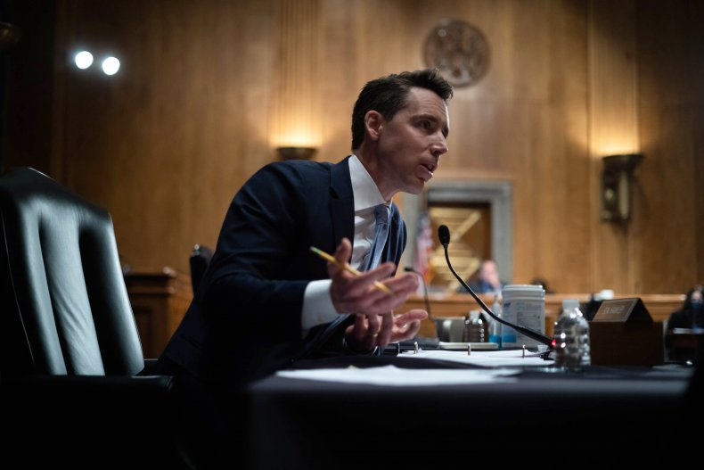 Josh Hawley Democrats Antisemitism Republicans Senate