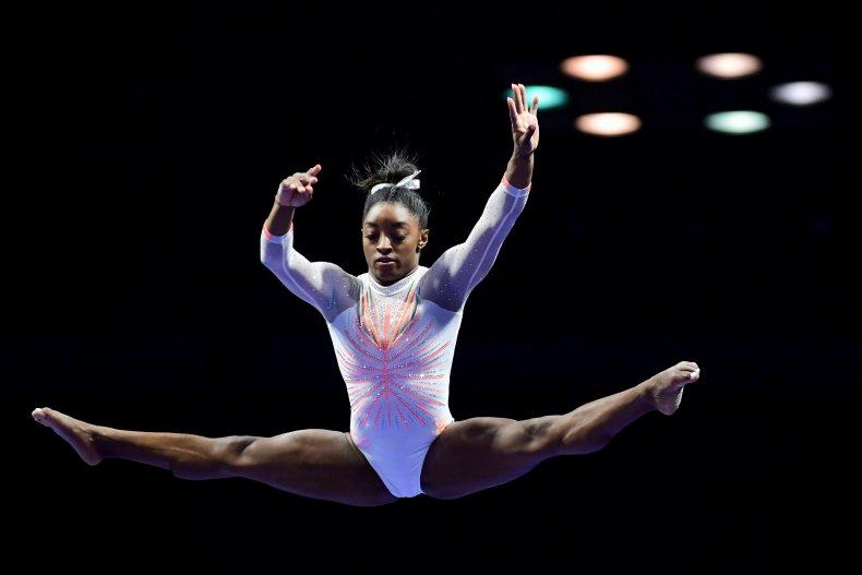 U.S. gymnastic star Simone Biles
