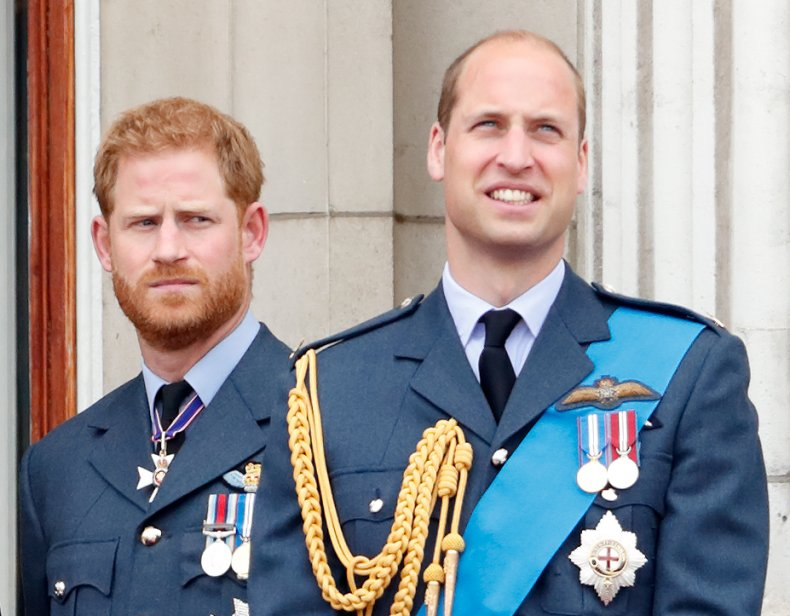 Prince Harry and Prince William at Centenary