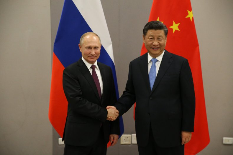 china russia partnership america military alliance