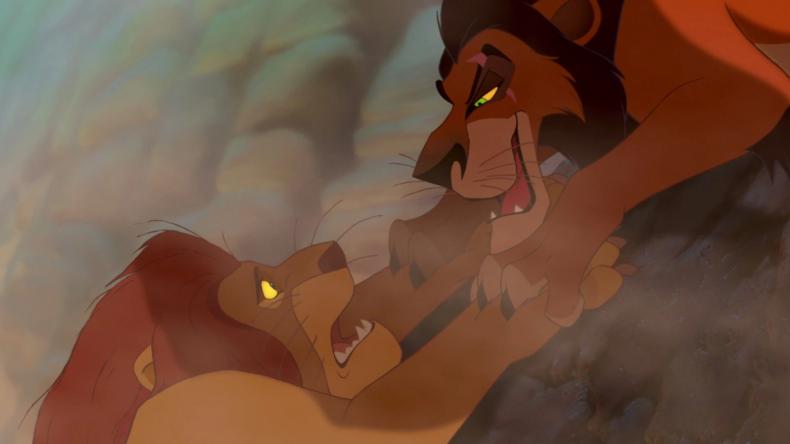 Mufasa's death in Lion King