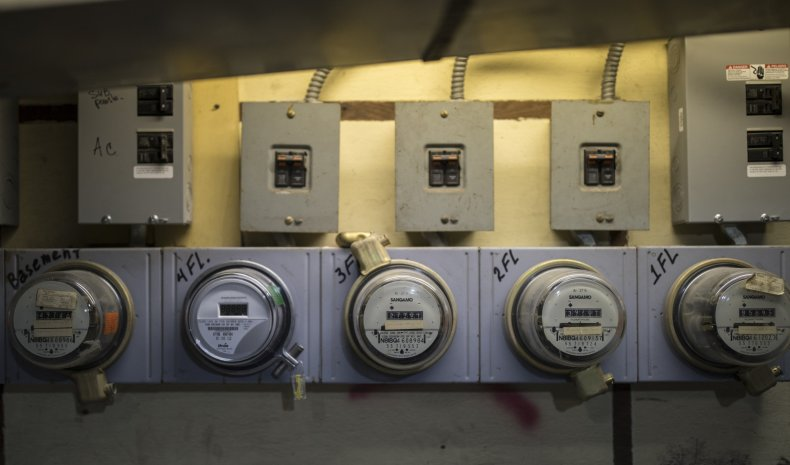 Electricity meters in Brooklyn, NYC in 2017.