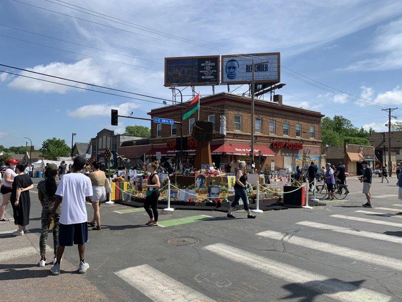 George Floyd Square Gun Shots Minneapolis