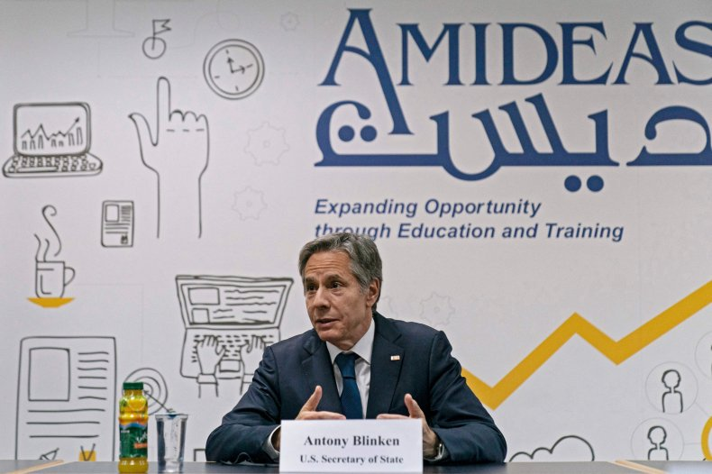 Antony Blinken Announces Palestine Aid