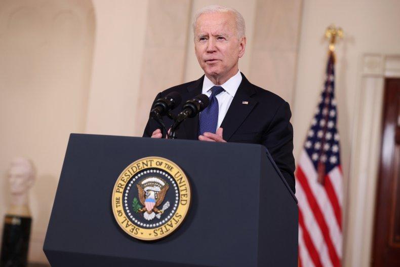 Joe Biden speaking at the White House