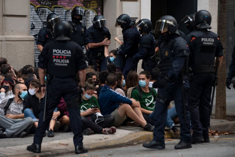 SPAIN-BARCELONA-EVICTION-HOUSING-PROTEST