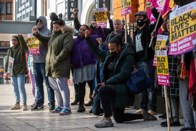 London BLM rally for George Floyd