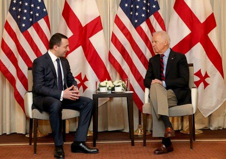 Prime Minister Irakli Garibashvili with Joe Biden
