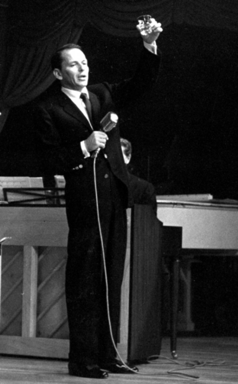 Sinatra Raises a Jack Daniel's Toast