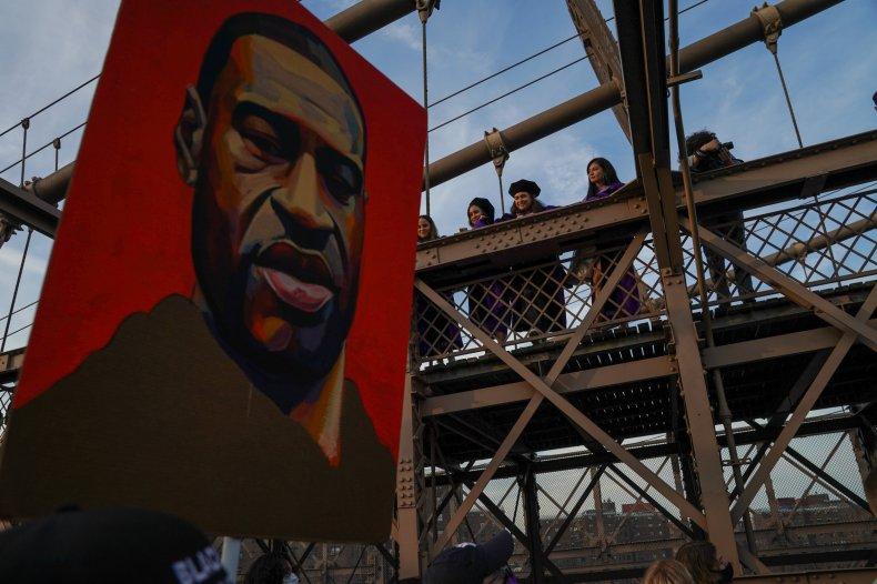Brooklyn march on George Floyd anniversary