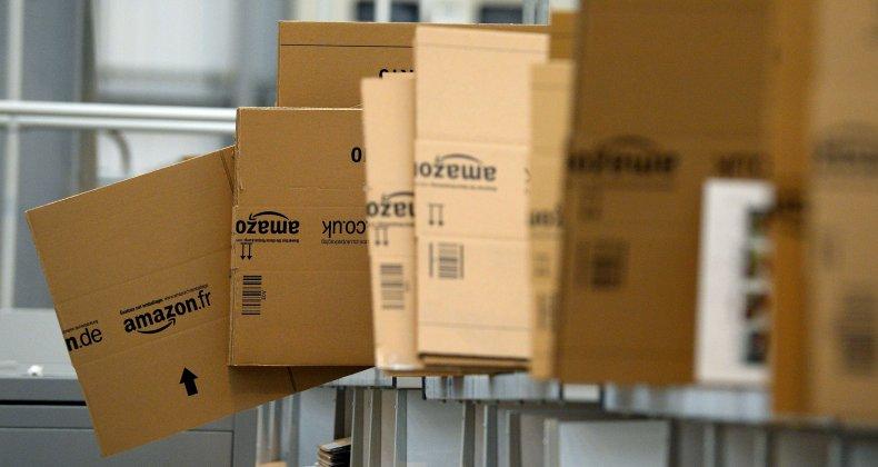 Stock photo of Amazon boxes