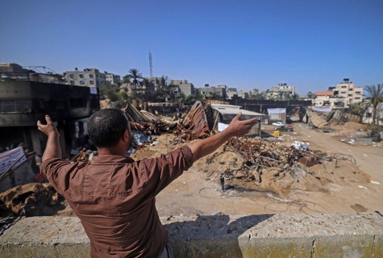 Palestinian Israel Conflict Gaza Destruction