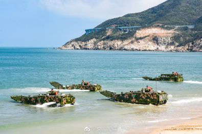 China Invasion Force In Amphibious Firing Drills