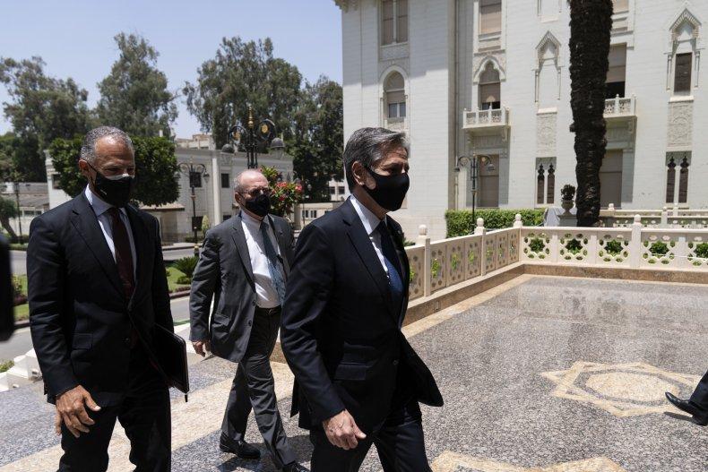 Antony Blinken with Egyptian President