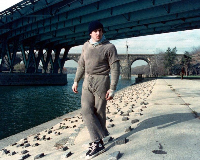 Sylvester Stallone as Rocky Balboa in 1976