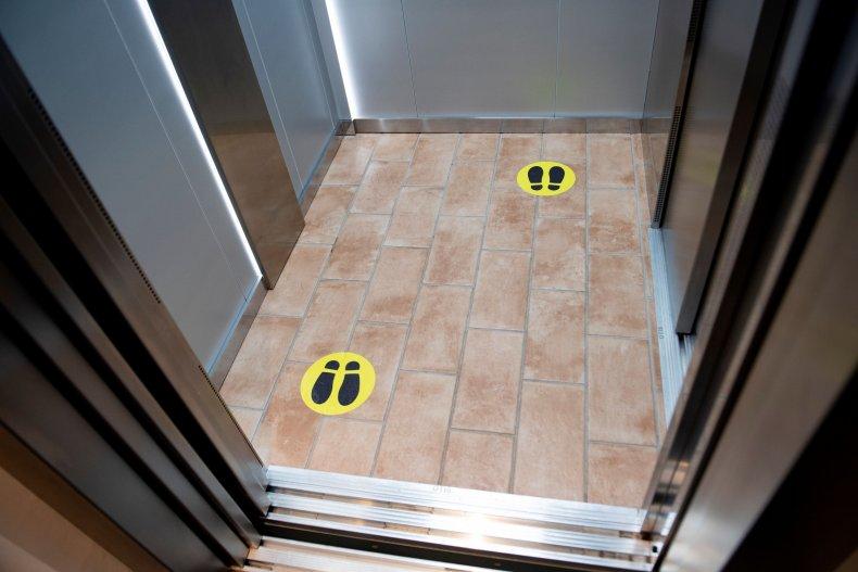 Passengers Restricted Inside Elevators Amid COVID